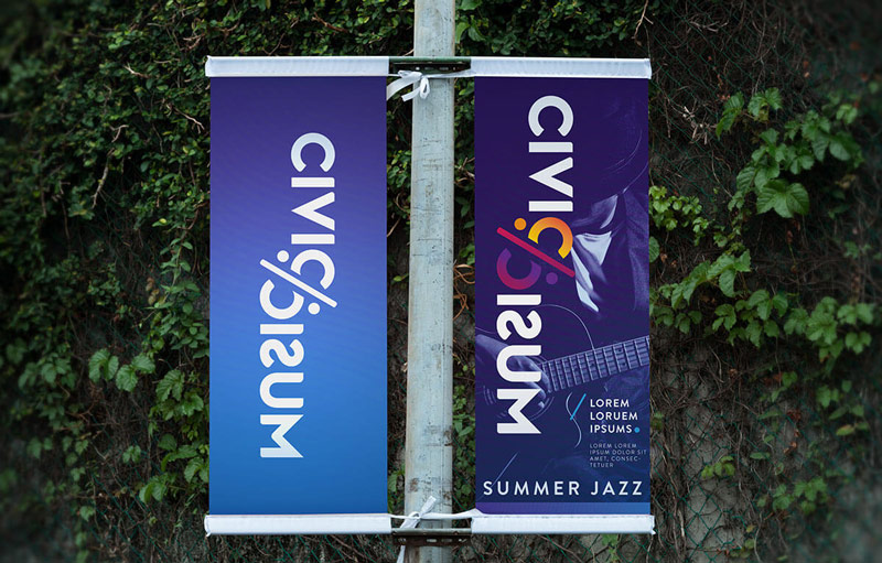 Civic Music banners