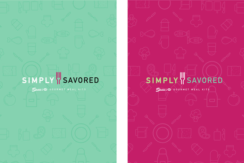 Simple Savored logo and color schemes