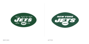 Before and after NY Jets Logos