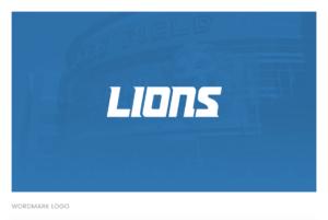 The Detroit Lions Wordmark