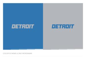 The Detroit Lions color scheme and second wordmark