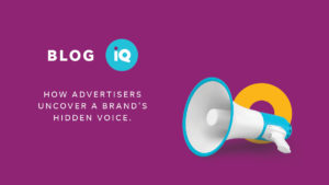 Blog IQ How advertisers uncover a brand's hidden voice megaphone graphic